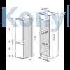 Kép 2/2 - Master Kitchen MKRF 320I ST Beépíthető kombinált hűtő  - No Frost
