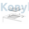 Kép 2/2 - Master Kitchen Prime MKHG 6031-PR TC XS Beépíthető Gázfőzőlap