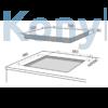 Kép 2/2 - Master Kitchen MKHI 604 FRXS BK Beépíthető Indukciós Főzőlap