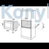 Kép 2/2 - Master Kitchen MKMW 3820-PR XS Beépíthető Mikrohullámú sütő