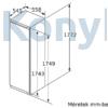 Kép 5/7 - Bosch KIL82AFF0 beépíthető hűtőszekrény fagyasztórekesszel egyajtós 177cm