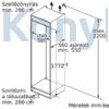Kép 6/7 - Bosch KIL82AFF0 beépíthető hűtőszekrény fagyasztórekesszel egyajtós 177cm
