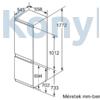Kép 5/6 - Bosch KIN86AFF0 beépíthető alulfagyasztós hűtőszekrény NoFrost VitaFresh kétkörös Serie6