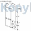 Kép 7/9 - Bosch KIN86NFF0 alulfagyasztós beépíthető NoFrost hűtő 178cm laposzsanér Seie2