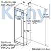 Kép 8/9 - Bosch KIN86NFF0 alulfagyasztós beépíthető NoFrost hűtő 178cm laposzsanér Seie2