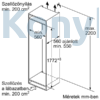 Kép 10/10 - Bosch KIN86VSE0 beépíthető alulfagyasztós hűtő NoFrost VitaFresh 178cm