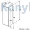 Kép 7/11 - Bosch KIR81VFF0 beépíthető egyajtós hűtő 178cm Serie4