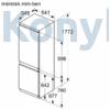 Kép 6/8 - Bosch KIV86VSE0 beépíthető alulfagyasztós hűtőszekrény 178cm Serie4