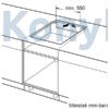 Kép 10/11 - Bosch PUF612FC5E beépíthető indukciós lap fehér Serie6