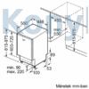 Kép 9/10 - Bosch SPV6YMX11E beépíthető mosogatógép