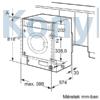 Kép 6/9 - Bosch WIW28541EU beépíthető mosógép 8kg 1400f/p Serie8