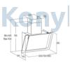 Kép 4/4 - Cata VALTO 600 XGBK páraelszívó fali döntött fekete