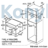 Kép 10/11 - Neff C17MS22G0 N90 beépíthető kompakt sütő mikrohullámmal Neff Collection