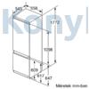 Kép 7/12 - Neff KI6873FE0 beépíthető alulfagyasztós hűtő 178cm 209+61L