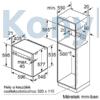 """Kép 10/11 - Neff B46FT64N0 beépíthető gőzsütő Slide & Hide ajtó 5,7"""" TFT pirolítikus"""