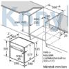 """Kép 11/11 - Neff B46FT64N0 beépíthető gőzsütő Slide & Hide ajtó 5,7"""" TFT pirolítikus"""