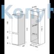 Master Kitchen MKRF320I NF Beépíthető kombinált hűtő  - No Frost