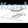 Master Kitchen Edge MKHI 382-ED 1BR BK Beépíthető Főzőlap