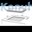 Master Kitchen Prime MKHI 604 BK Beépíthető Indukciós Főzőlap Acél Profillal