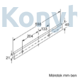 Bosch DFL064W53 kihúzható páraelszívó ezüst 60cm Serie2