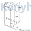 Bosch KIV86VSF0 beépíthető alulfagyasztós hűtőszekrény 191/76L Serie4