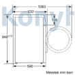 Bosch WAX32KH2BY elöltöltős mosógép 10kg 1600f/p Home Connect i-Dos AquaStop Serie8 fehér-inox ajtó