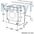 Bosch WKD28542EU beépíthető mosó-szárítógép 7/4kg 1400f/p Serie6