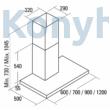 Cata SYGMA X 9000 inox LED páraelszívó fali 90cm