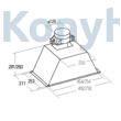 CATA GT Plus 45 INOX  X/L Kürtőbe Építhető Páraelszívó