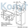 Neff C15MR02N0 Line beépíthető kompakt sütő mikrohullámmal 45cm