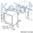 Neff S275ECX12E teljesen integrálható mosogatógép 86,5cm magas VarioHinge zsanér Neff Collection