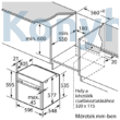 NEFF B46FT64N0 Beépíthető Sütő Gőzfunkcióval