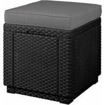 Curver Cube with cushion kerti puff tárolóval grafit