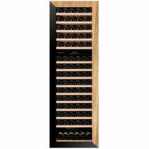 Dunavox DAVG-114.288DOP.TO Glance beépíthető borhűtő fekete/fa 114 palackos