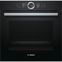 Bosch HSG636BB1 beépíthető gőzsütő fekete EcoClean Direct öntisztítás Serie8