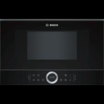 Bosch BFL634GB1 beépíthető mikrohullámú sütő fekete 21L balra nyíló