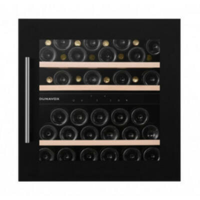 Dunavox DAB-41.83DB Soul beépíthető borhűtő fekete 41 palackos