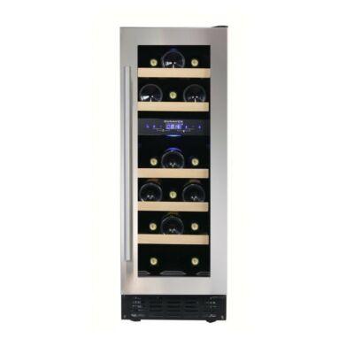 Dunavox DAUF-17.58DSS beépíthető borhűtő inox 17 palackos