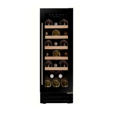 Dunavox DAUF-19.58B beépíthető borhűtő fekete 19 palackos