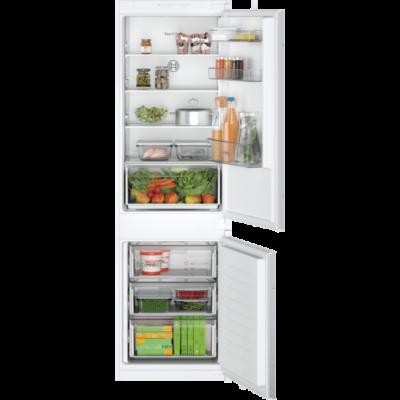 Bosch KIN86NSF0 alulfagyasztós beépíthető NoFrost hűtő 178cm Seie2