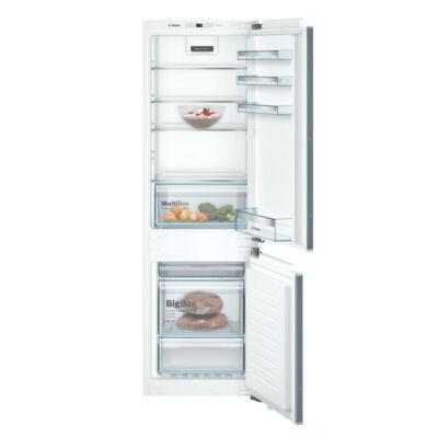 Bosch KIN86VFF0 beépíthető alulfagyasztós hűtőszekrény NoFrost 187/67L