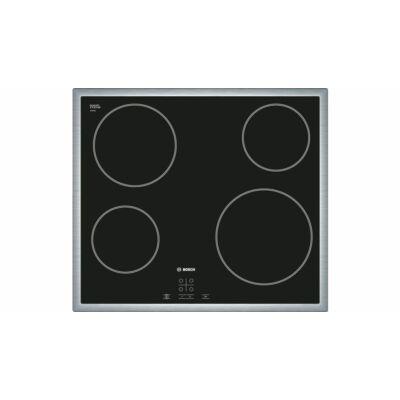 Bosch PKE645D17E beépíthető üvegkerámia főzőlap nemesacél kerettel Serie4