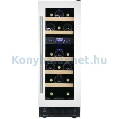 Dunavox DAU-17.57DW beépíthető borhűtő fehér 17 palackos
