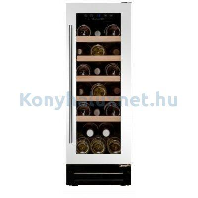 Dunavox DAU-19.58W beépíthető borhűtő fehér 19 palackos