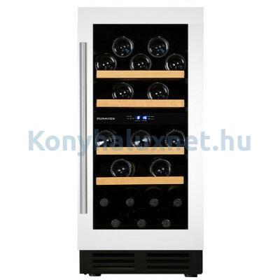 Dunavox DAU-32.78DW beépíthető borhűtő fehér 32 palackos