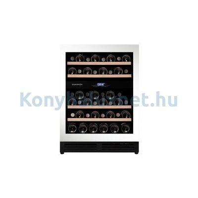 Dunavox DAU-45.125DW.TO Flow beépíthető borhűtő fehér 45 palackos