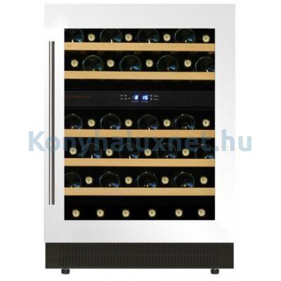 Dunavox DAU-46.146DW beépíthető borhűtő fehér 46 palackos