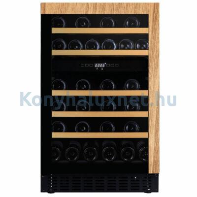 Dunavox DAUF-38.100DOP.TO Flow beépíthető borhűtő fekete/fa 38 palackos push2open