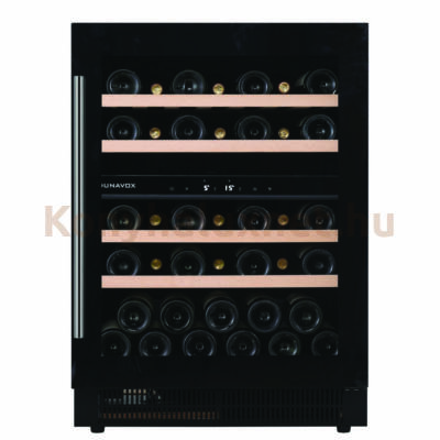 Dunavox DAUF-39.121DB Soul beépíthető borhűtő fekete 39 palackos