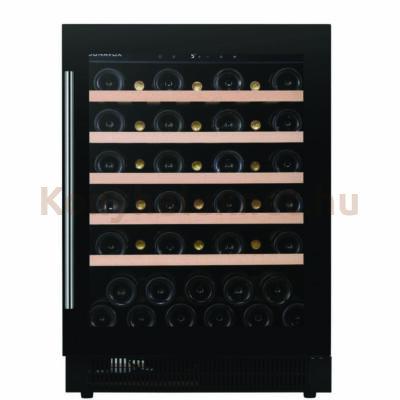 Dunavox DAUF-46.138B Flow beépíthető borhűtő fekete 46 palackos